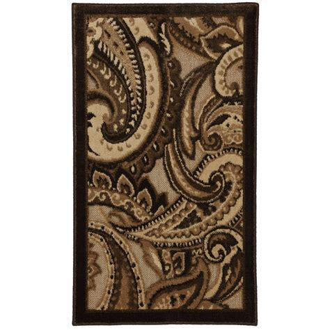 Brown Paisley Rug by Shop Mohawk Home Brown Paisley Rectangular Multicolor