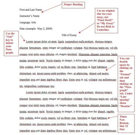 Essay In Mla Format Exle by Mla Format Template Cyberuse