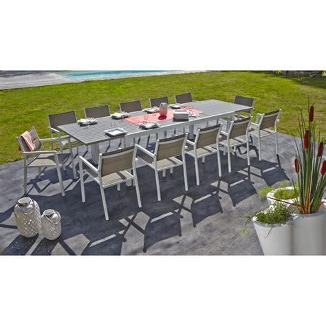 table de jardin 12 personnes table de jardin miami 10 12 personnes tables de jardin tables chaises bancs mobilier de