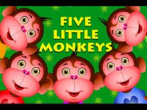 Monkeys Jumping On The Bed Youtube Five Little Monkeys Jumping On The Bed And More Monkey