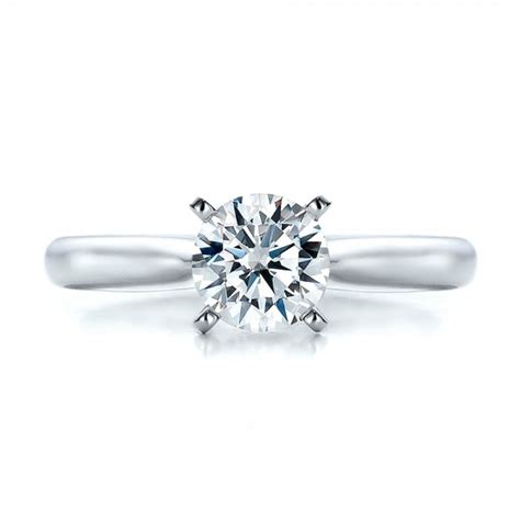 Contemporary Engagement Rings by Contemporary Solitaire Engagement Ring 100401