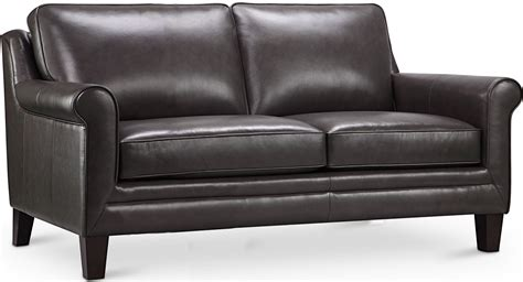 grey leather loveseat cambria andover gray leather loveseat from luxe leather