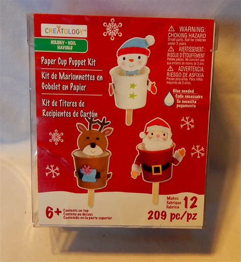 kid craft kit creatology paper cup puppet kit 6 209pc