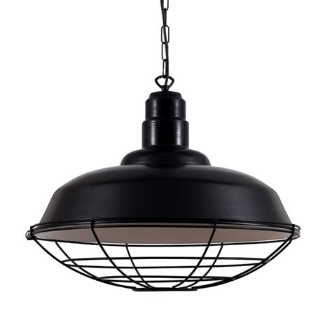 Eden Black Industrial Cage Pendant Light