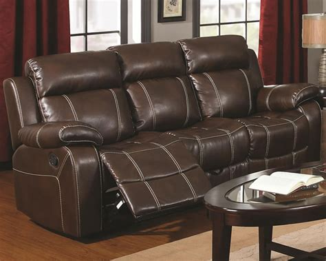 bonded leather recliner sofa chicago furniture brown bonded leather reclining sofa store