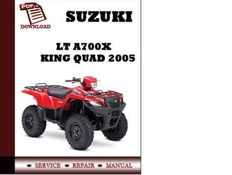 small engine repair manuals free download 2005 suzuki grand vitara navigation system suzuki lt a700x king quad 2005 workshop service repair manual pdf d