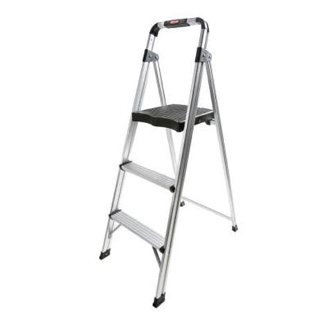 rubbermaid 3 step aluminum step stool ladder