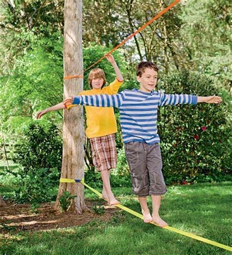 backyard slackline classic slackline with training line playground ropes