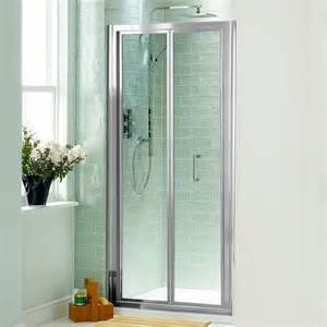folding glass shower doors bi fold shower door will give your bathroom an upscale