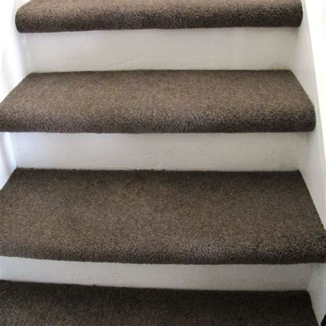 different ways to carpet stairs carpet treads painted riser basement