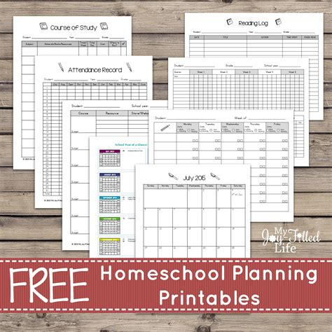 Free Printable Homeschool Planner Pages | homeschool planning resources free printable planning