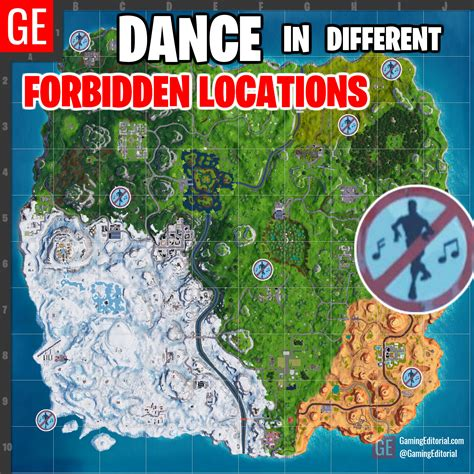 dance   forbidden locations map fortnite