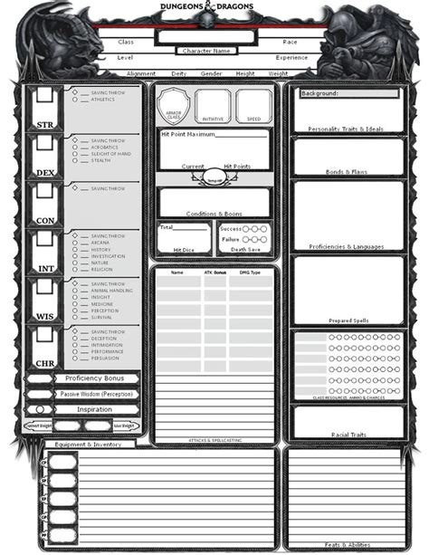 dnd templates 25 best ideas about dnd character sheet on