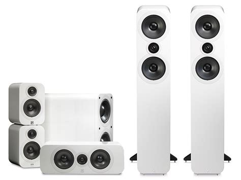 Linn Bookshelf Speakers Q Acoustics 3050 Cinema Pack Gloss White