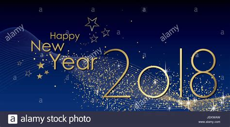 happy new year 2018 greeting card stock vector happy new year 2018 greeting card vector stock vector