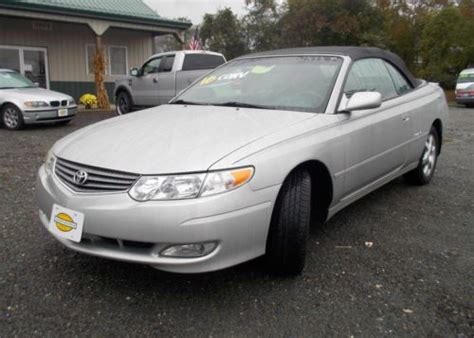 Toyota Solara 2003 Purchase Used 2003 Toyota Solara Sle Convertible 2 Door 3