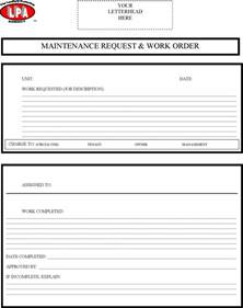 work order form template excel work order template free premium templates