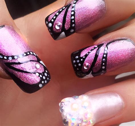 easy nail art butterfly holographic butterfly easy nail art youtube