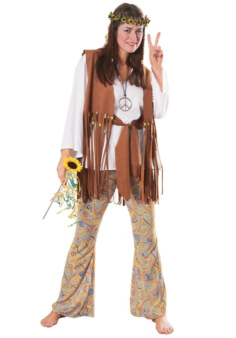 60 S Party Decorations Hippie Love Child Costume Halloween Hippie Costumes