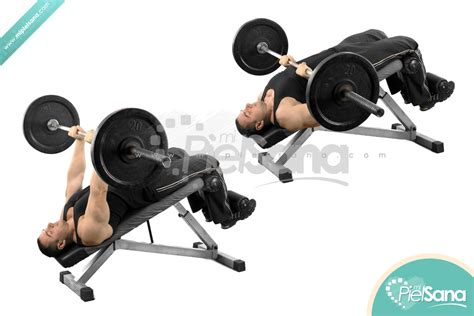 closed grip bench decline press images