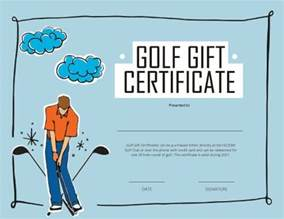golf certificate template free 13 free printable gift certificate templates birthday