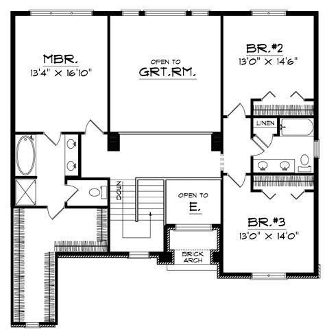 englewood cliff traditional home plan 051d 0131 house