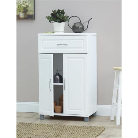 systembuild 24 utility storage cabinet white systembuild white kendall 24 inch 1 2 door base