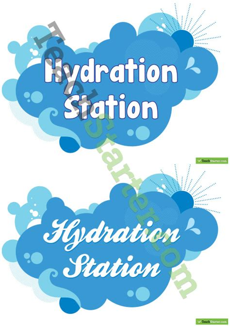 hydration teaching hydration station signs
