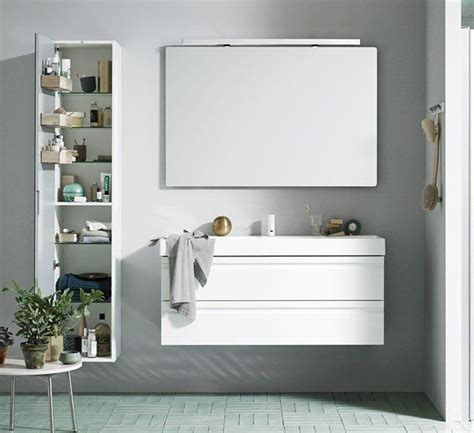 bathroom mirror units canto 1200mm basin with integrated handles on white vanity