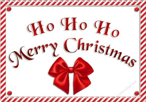 ho ho ho merry christmas sign cup738574 43136 craftsuprint