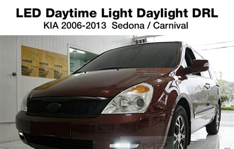 Fog L Cover Grand Fortuner With Drl Fitt Thailand led fog daylight drl covers l r set for kia 2006 2013