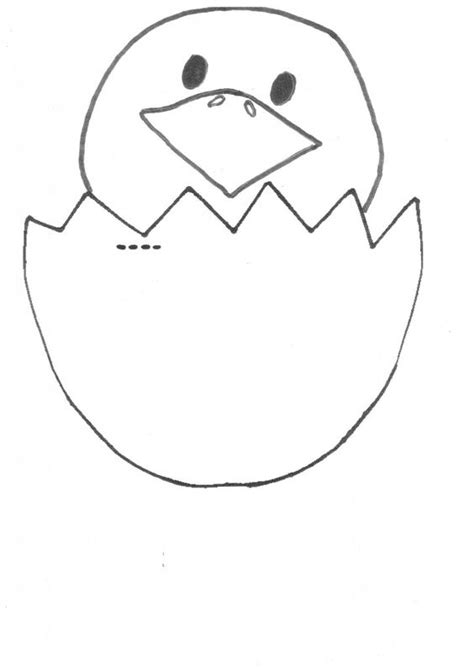 Cracked Egg Coloring Page by Cracked Egg Chicky Template Free Aussie Kid