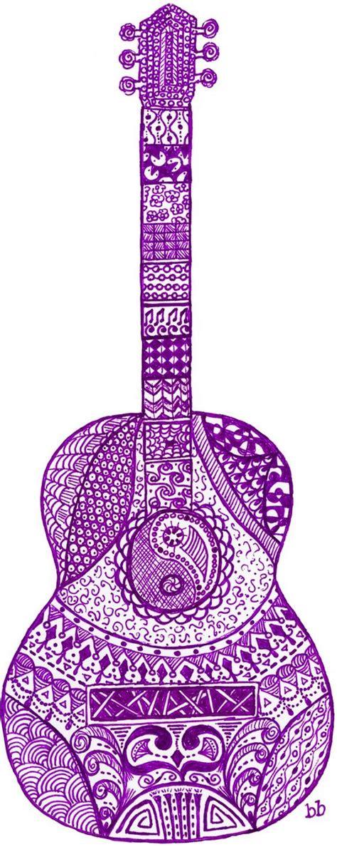 Zen Doodle Guitar And Acoustic Guitars On