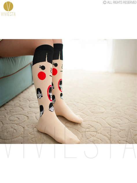 Animal High Knee Sock Penguin 100 cotton animal knee socks 2014 korean new