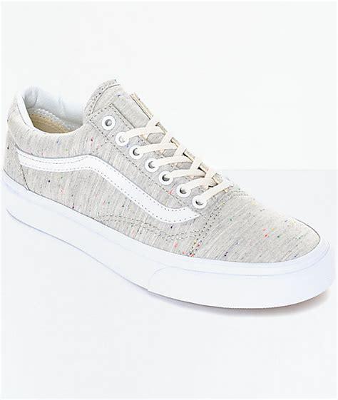 vans skool speckle jersey grey womens shoes at zumiez
