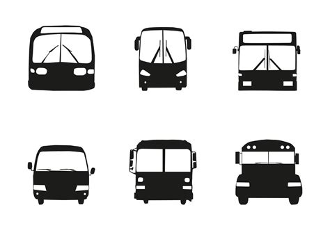 jeep front silhouette free vector bus car silhouette front download free