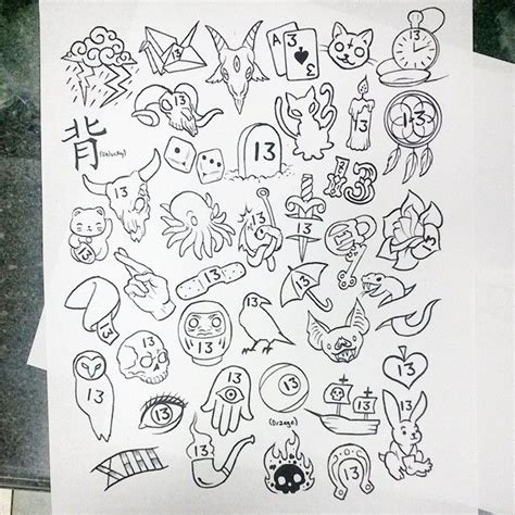Tattoo Flash Friday The 13th | 1000 images about doodles on pinterest doodle monster