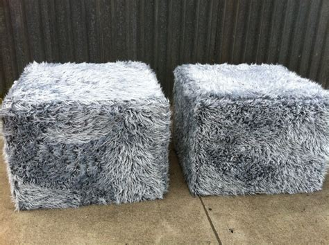 faux fur storage ottoman faux fur ottomans modern footstools and ottomans