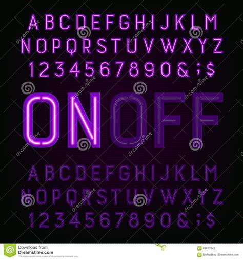 neon light letters font purple neon light alphabet font two different styles