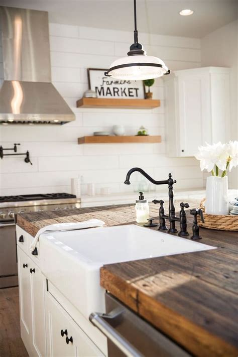 Cleaning Wood Countertops by Beautiful Kitchen Design Clean Modern Farmhouse White