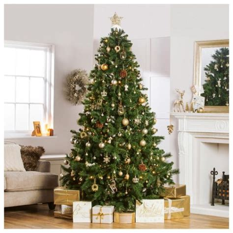 majestic noelpine artificial christmas tree buy festive 8ft majestic pine tree from our trees range tesco