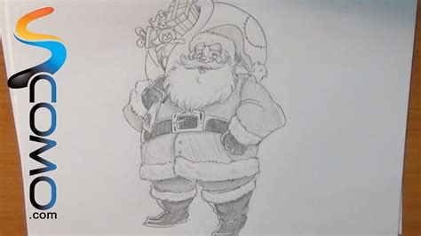 como dibujar a santa claus dibujos de navidad para aprende a dibujar a papa noel youtube