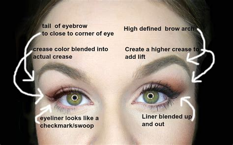 eyeliner tutorial for droopy eyes droopy eyes makeup easy fixes for instant eyelift youtube