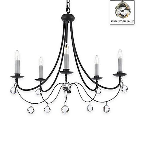 gallery versailles 5 light black wrought iron chandelier gallery versailles 5 light wrought iron crystal chandelier