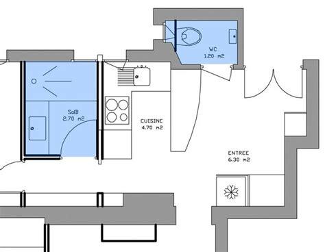 Mini Salle D Eau by Plan Salle De Bain Plan Salle D Eau 6 Exemples Avant