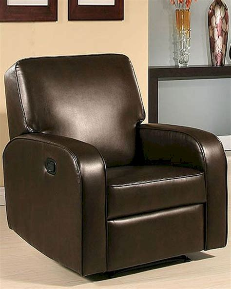 ab recliner abbyson easton dark brown bonded leather recliner ab 55cr
