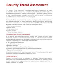 threat risk assessment template sle threat assessment 9 documents in pdf