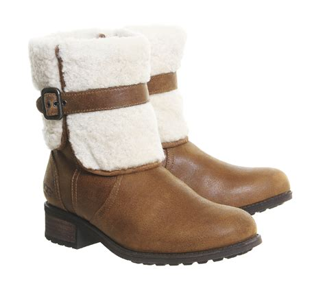 shearling boots ugg blayre ii shearling boots in brown chestnut lyst