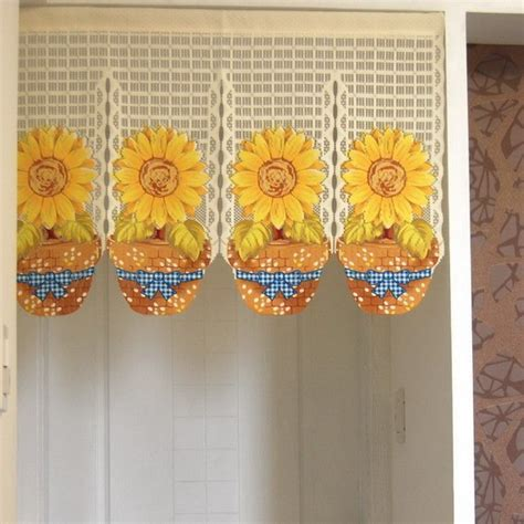 sunflower kitchen curtain sunflower printting door curtain d2926 ebay