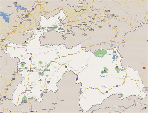 us map with cities and national parks large road map of tajikistan with national parks and